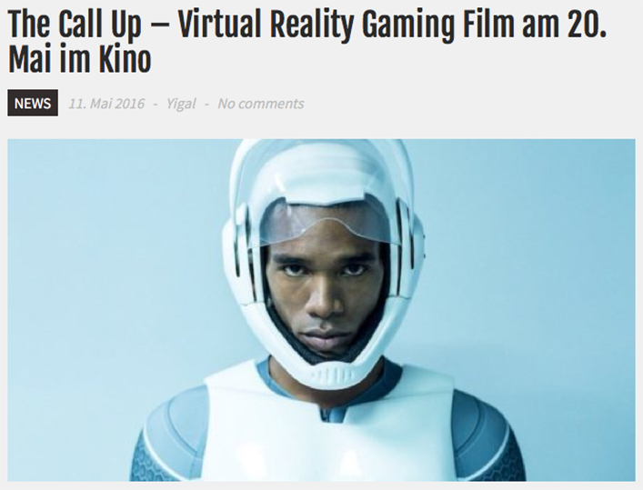 04481e5c028c The Call Up – Virtual Reality Gaming Film am 20. Mai im Kino